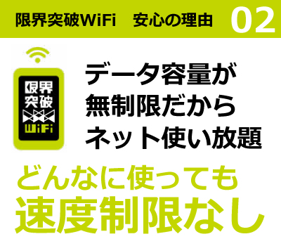 限界突破WiFi 安心の理由2