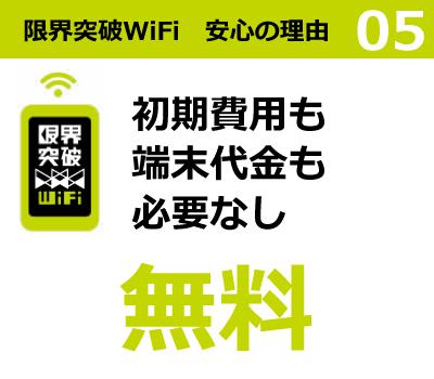 限界突破WiFi 安心の理由5