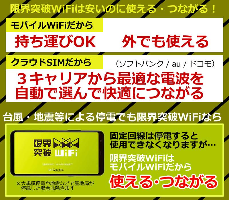 活用法02 初期費用無料+限界突破WiFiのメリット